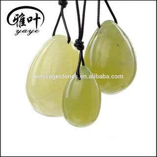 Wholesale natural Green Jade stone eggs yoni egg kegel for women