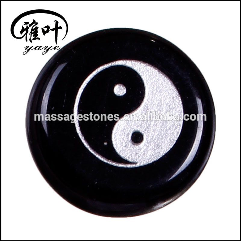 Wholesale Engraved Yin and Yang Reiki Jade Stone