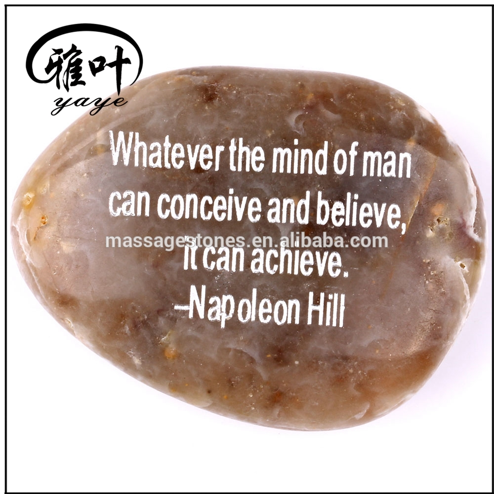 Engraved Customized inspirational words river stones