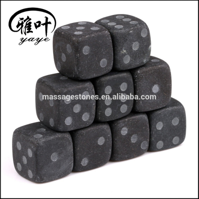 Wholesale whisky rock stone 2cm black engraved whisky stone