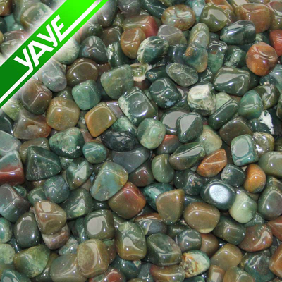Highly polished tumbled stones Green Moss Agate