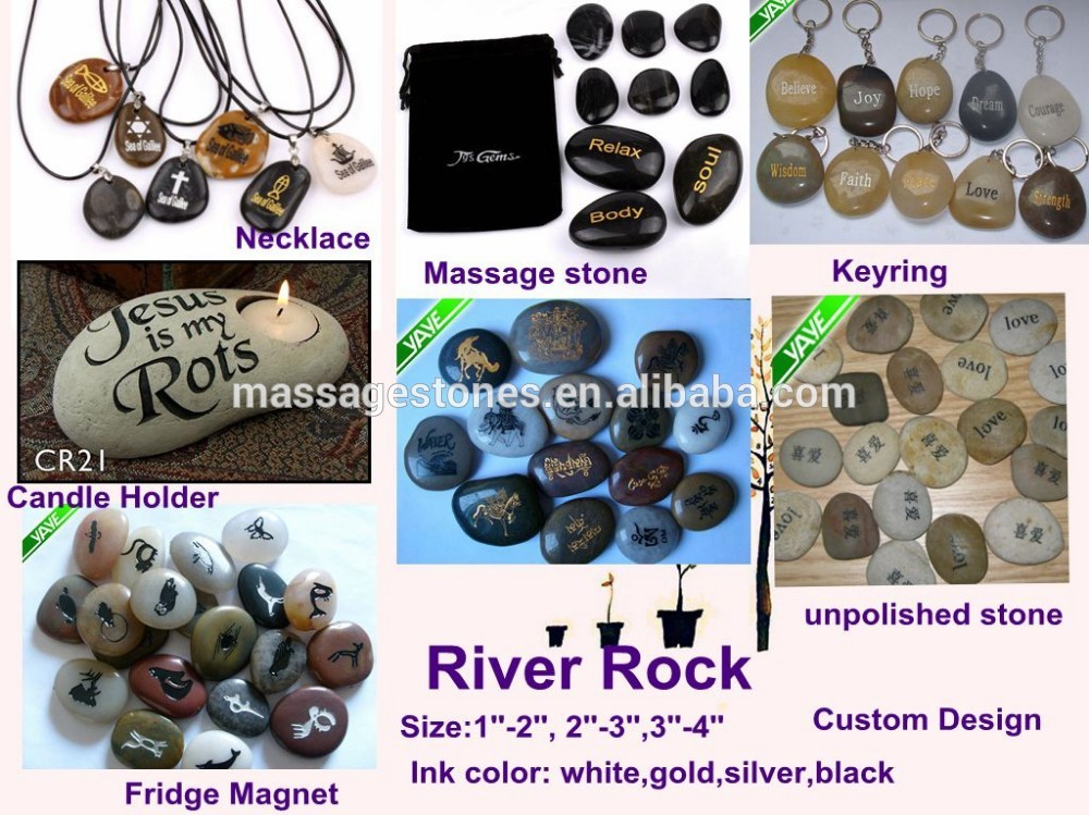 Customed christian engraved river stones with inspirational stones