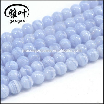 8mm High Quality Blue Lace Agate Beads