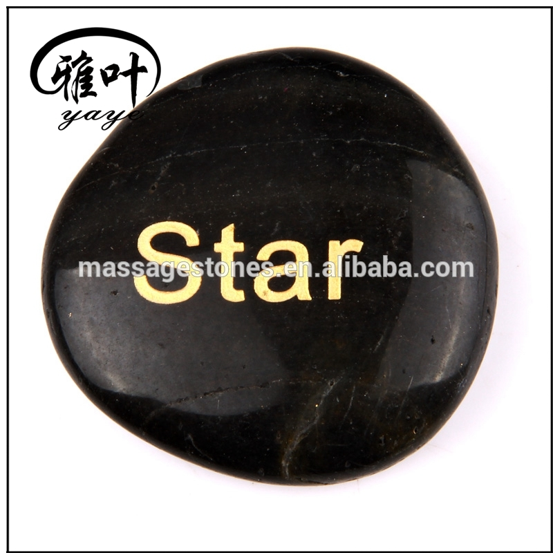Engraved natural polished inspirational river stones wholesale