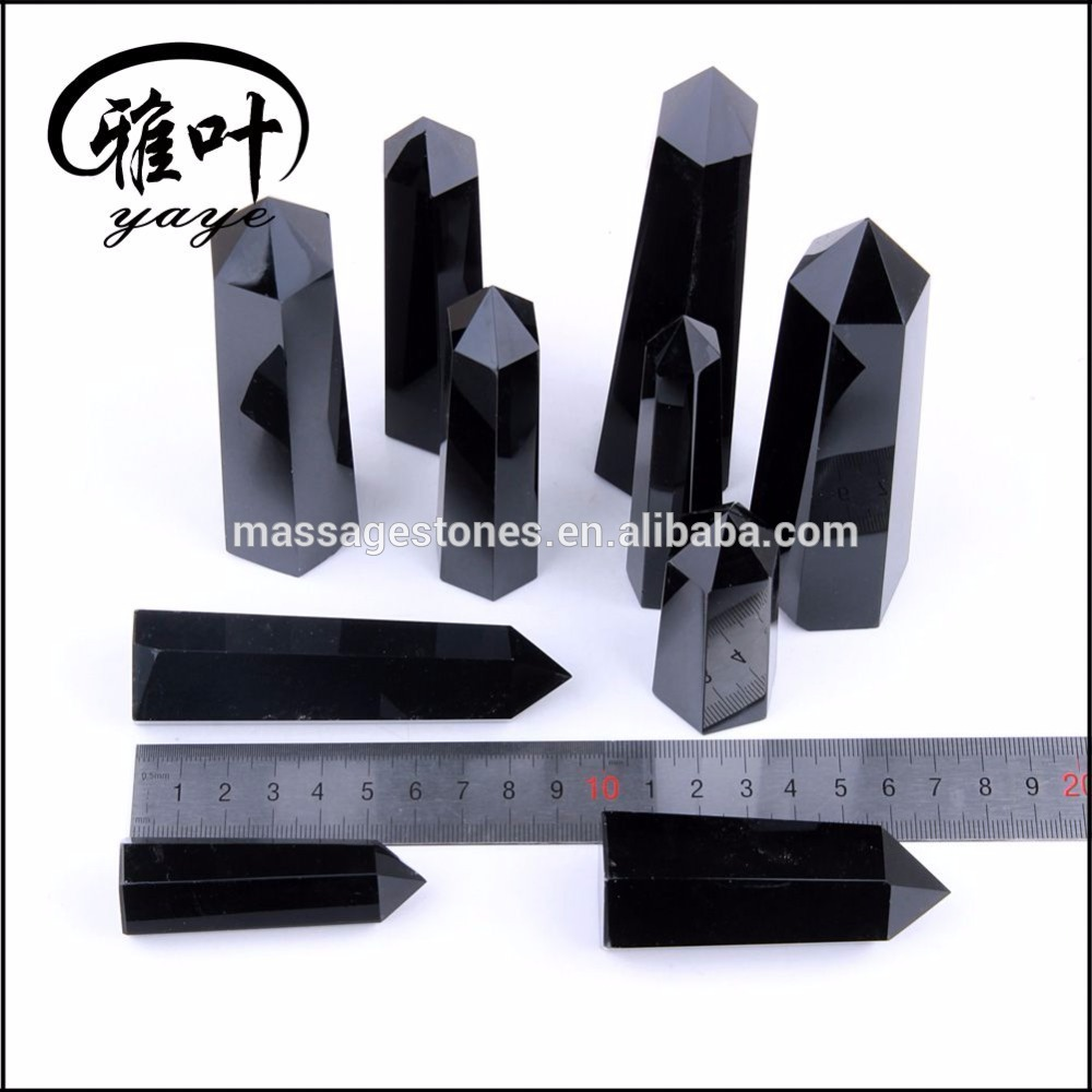 Wholesale Top Quality Black Obsidian Wand Gemstone Healing Wand