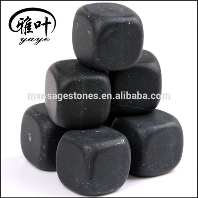 Wholesale 20mm natural stone promotional gifts ice cube chilling stones whiskey stones