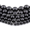 4/6/8/10/12/14mm wholesale spring color natural stone beads, black round shape agate beads