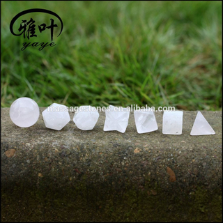 Natural Crystal Quartz Sacred Geometry 7 pieces Set