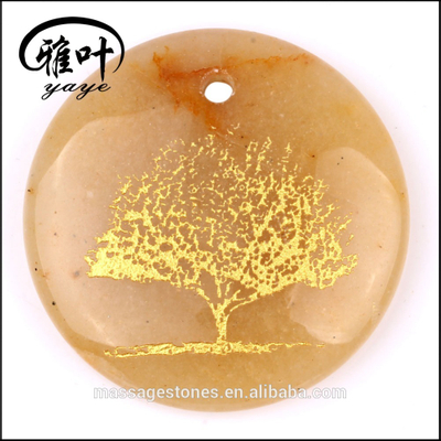 Yellow Jade/Amethyst/White Jade Tree of Life Pendants for sale