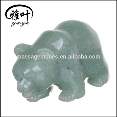Natural Gemstones Hand Carved Bear Carvings