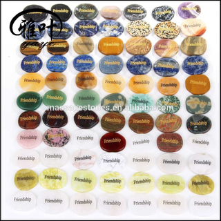 Bulk Wholesale Assorted Engraved Words Semi Precious Stone