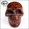 Carved Mahogany obsidian skull home decor man skull model for wholesale