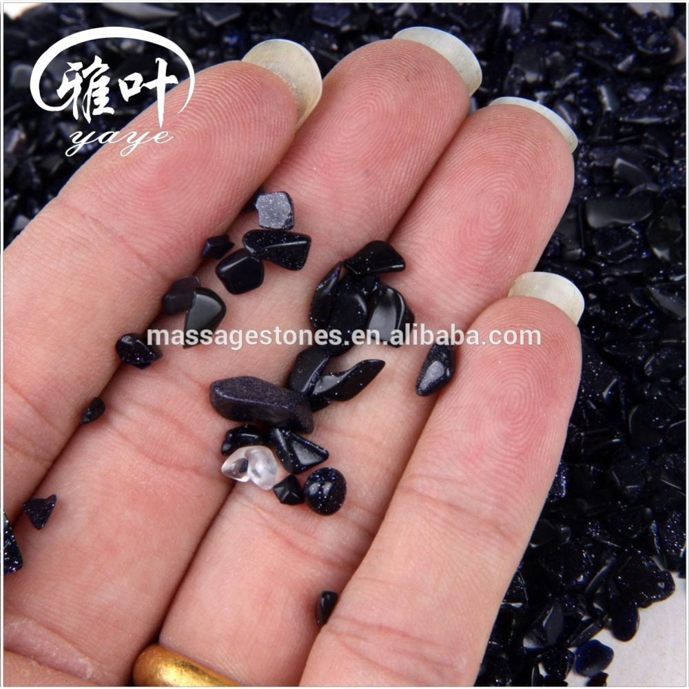 Wholesale Blue Sand Stone tumbled stones polish semi precious small tumbled stone