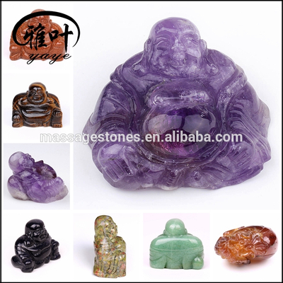 Wholesale Semi-precious Stones Crystal Laughing Buddha