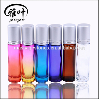 Wholesale Colorful Essential Oil Massage Gemstone Roller Ball Gemstone Roller Ball Glass Bottle