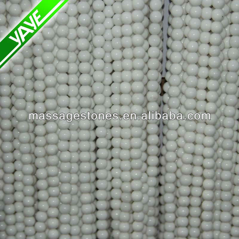 Natural Loose Beads White Jade Gemstone For Gifts