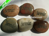 Engraved river stones etched with inspiration words,phrase, logo rocks