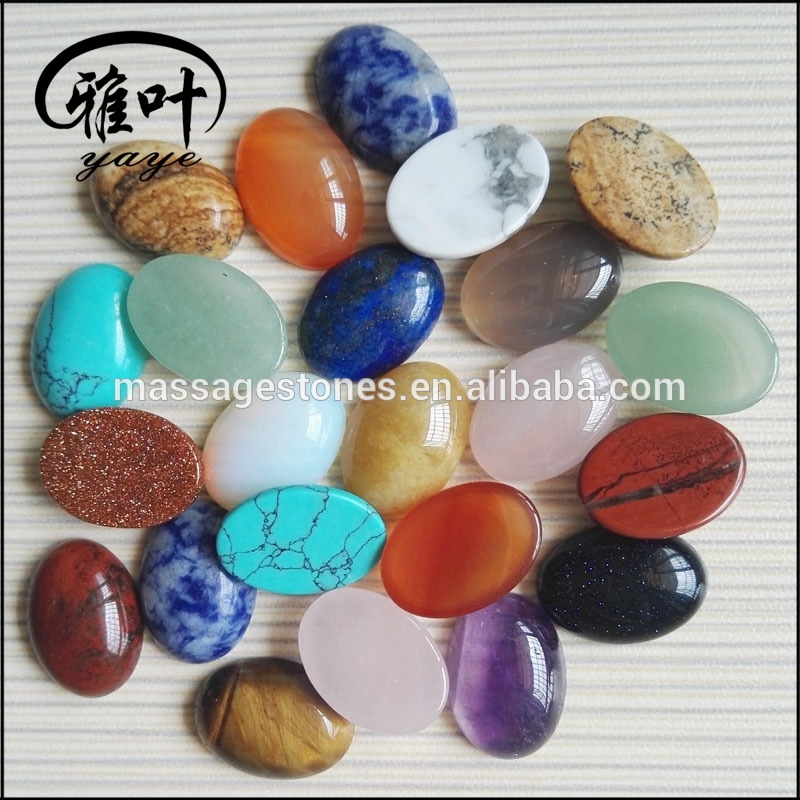 Wholesale Assorted 13*18mm Oval Stones Cabochons