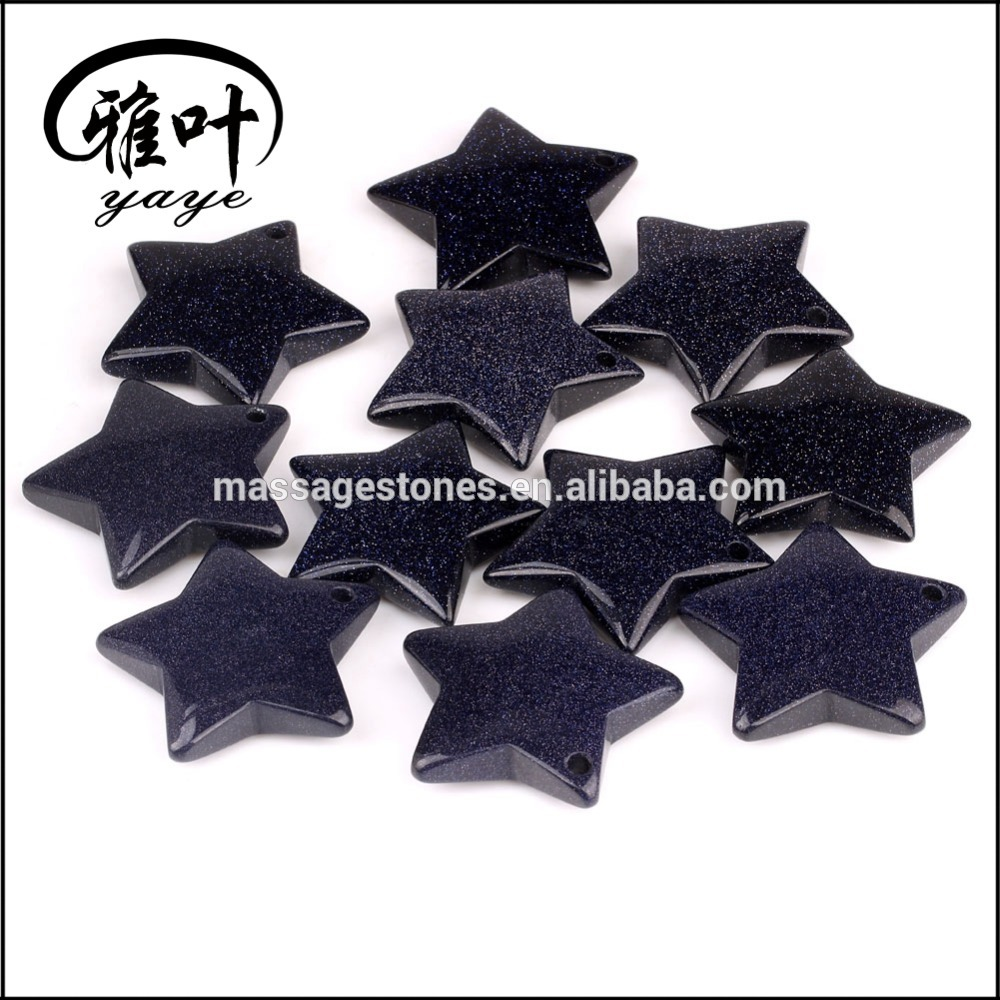 Blue Sand Stone Five-pointed Stars Pendants