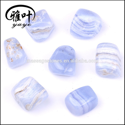 Natural Tumbled Stones Blue Lace Agate Stones