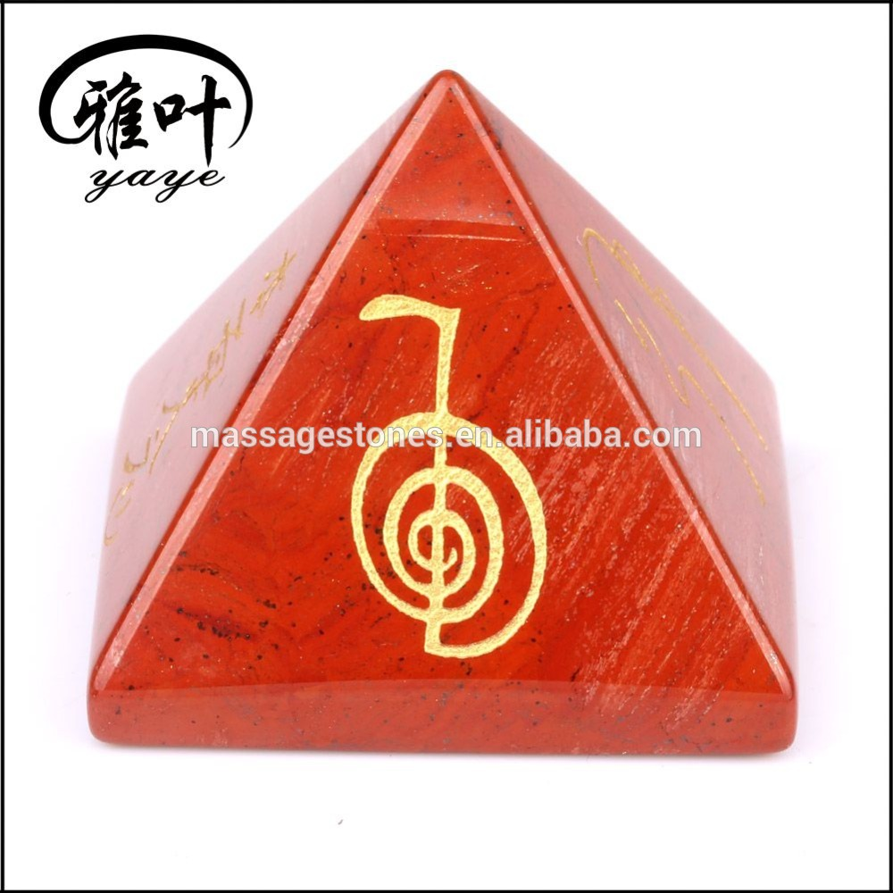 Wholesale fengshui red jasper energy pyramid healing crystal reiki pyramids