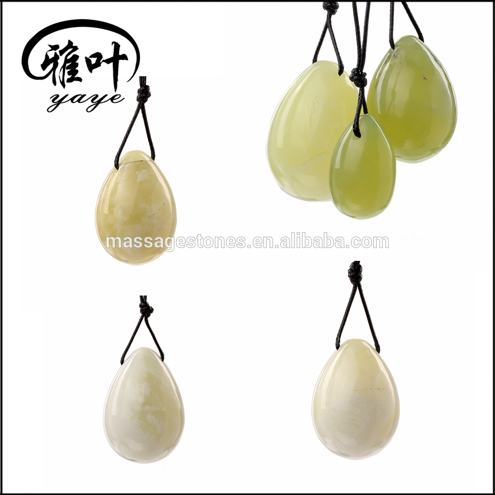 Natural Jade Yoni Drilled Egg Nephrite Jade Egg
