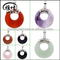 Gemstone Donut Pendant forJewelry Accessories