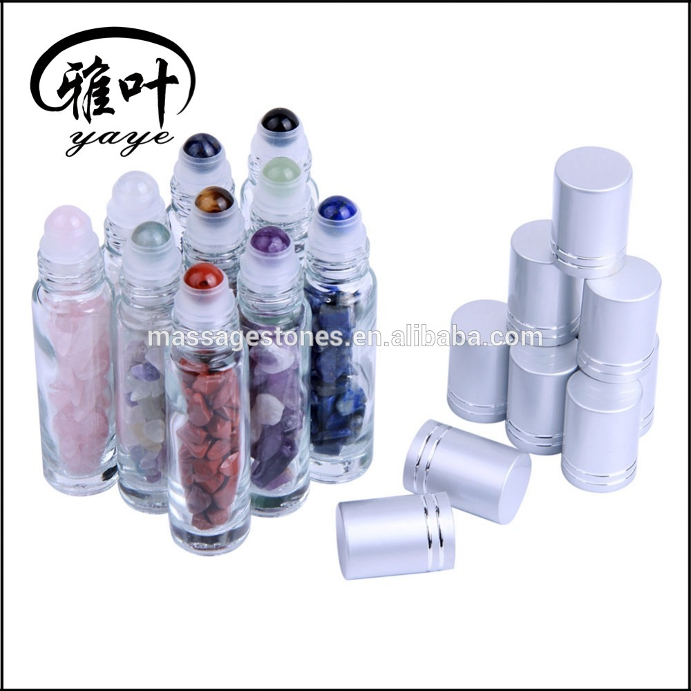 Colorful Roller Ball Perfume Bottle Gemstone Roller Balls for Essential Oil