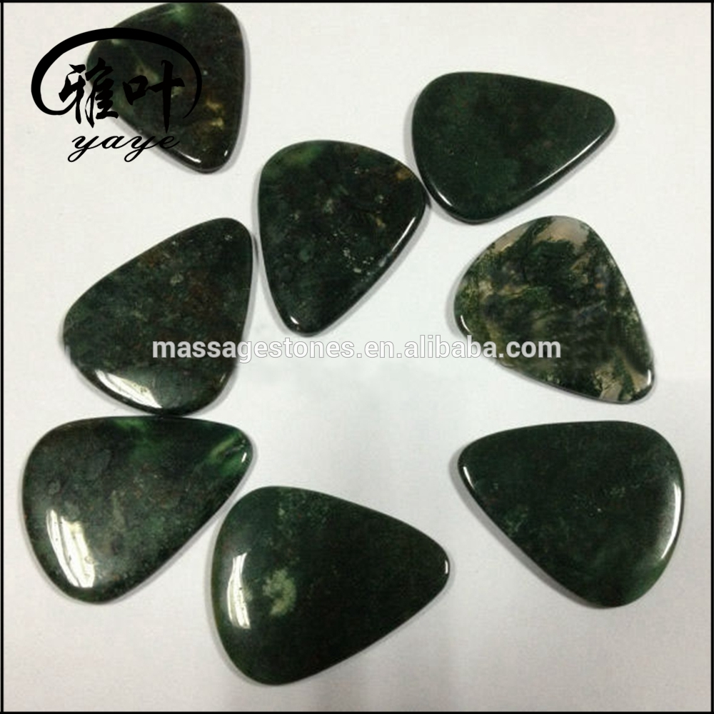 Natural Moss Aagte Custom Guitar Pick Gemstones Guitar Pick Bulk