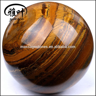 wholesale Yellow tiger Iron sphere carving gemstone globe