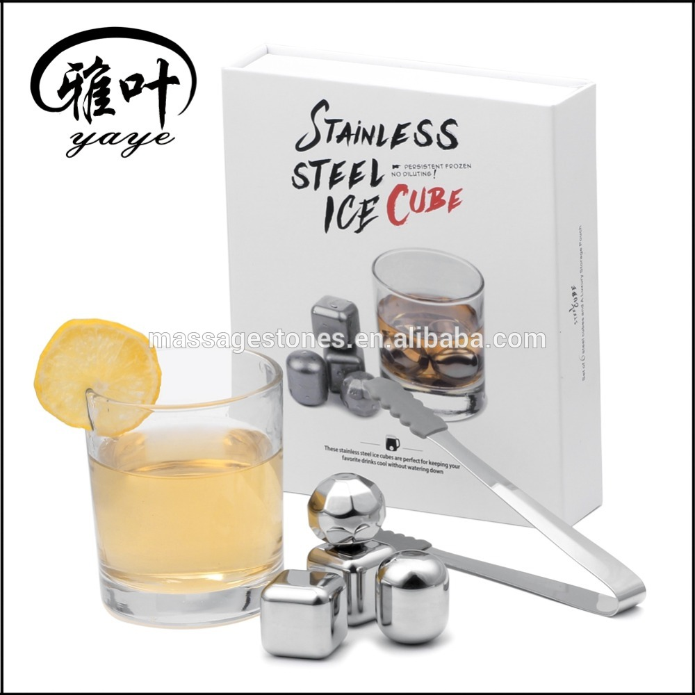 Whiskey Chilling Stones Rocks Stainless Steel Metal Ice Cube