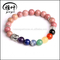 Natural Colored Stone Beads 8mm Tibetan Silver Buddha Beads Man Bracelets