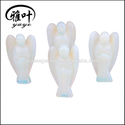 Wholesale 2 Inch Opalite pocket angels Decoration Carved Angel