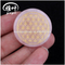 Flower of Life Natural Rose Quartz Engraved Coin Shape Palm Stone