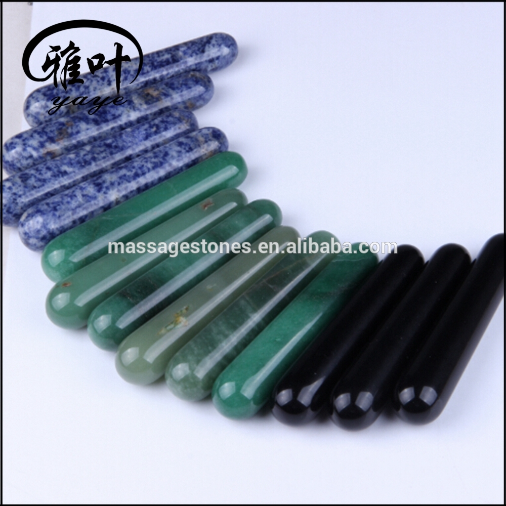 Natural Assorted Gemstones Massage Wands
