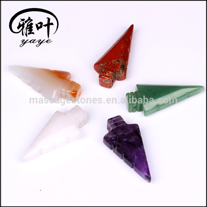 Promotional Natural Colorful Stones Arrowheads for Gift & Decoration