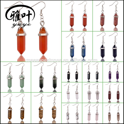 Wholesale Healing Crystal/gemstone Pendants earring for gifts
