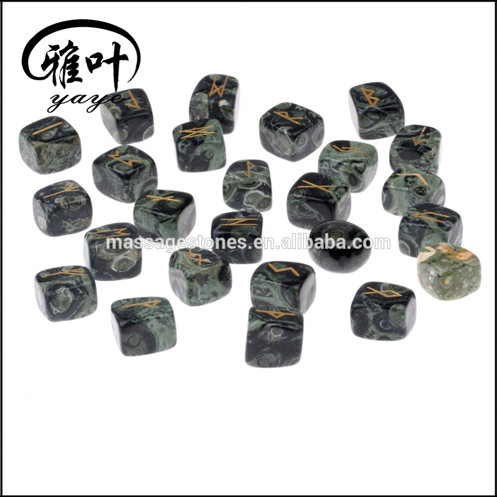Wholesale Natural Gemstones Engraved Rune Stones Healing Runes Set
