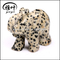 Carved Natural Dalmation Jasper stone elephant sculpture figurines