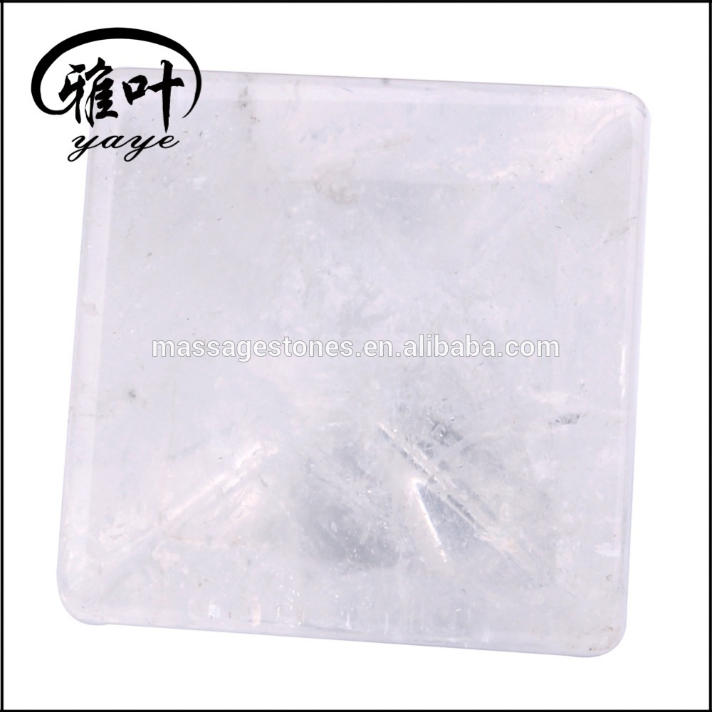 Wholesale Carved Clear Quartz Crystal Pyramid