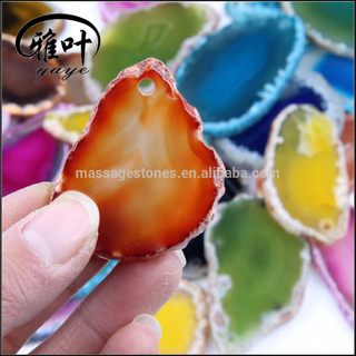 Wholesale Natural Agate Slice with Geode Colorful Polished Agate Slices Wholesale