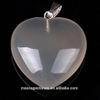 Crystal Collection Jewelry Wholesale Natural Grey Agate Heart Shape