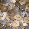 Wholesale Engraved Word Worry Stone pocket inspiration stones