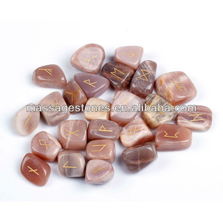 wholesale reiki moonstones: engraved rune stone set