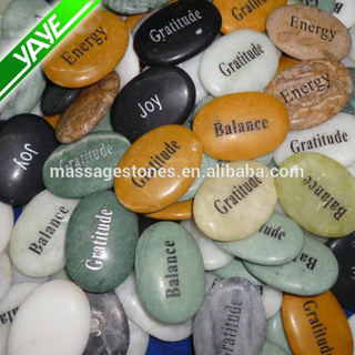 natural marble stone carved gemstone carved jewelry words pocked stone