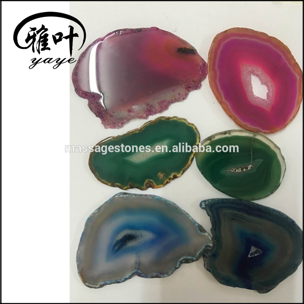 Mixed Color Agate Slice Wholesale Polished Agate Geode Slice