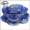 Natural Gemstone Spittor Toad Carving Hand Carved Lapis Lazuli Lucky Frog Animal Statues for Wholesale