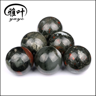 Wholesale Gemstone African Blood Stone Sphere 2 Inch Size 50mm Crystal Healing Stone