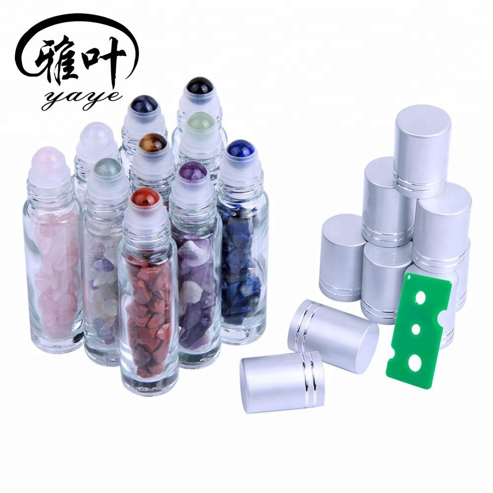 10ml Essential Oil Bottles Natural Gemstone Roller Bottle