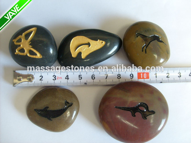 Engraved gratitude stones river stones pocket stones etched with pattern